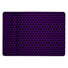 Dark Purple Metal Mesh With Round Holes Texture Samsung Galaxy Tab 10 1  P7500 Flip Case