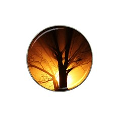 Rays Of Light Tree In Fog At Night Hat Clip Ball Marker (4 Pack)