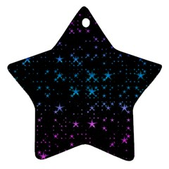 Stars Pattern Seamless Design Star Ornament (two Sides)