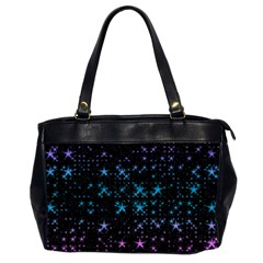Stars Pattern Seamless Design Oversize Office Handbag (2 Sides)