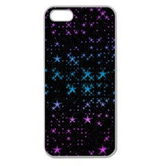 Stars Pattern Seamless Design Apple Seamless Iphone 5 Case (clear) by Jojostore