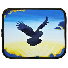 Sunset Owl Netbook Case (large)
