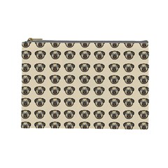 Puppy Dog Pug Pup Graphic Cosmetic Bag (large)