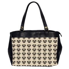 Puppy Dog Pug Pup Graphic Oversize Office Handbag (2 Sides)
