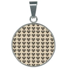Puppy Dog Pug Pup Graphic 25mm Round Necklace