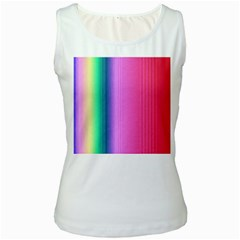 Abstract Paper For Scrapbooking Or Other Project Women s White Tank Top