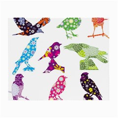 Birds Colorful Floral Funky Small Glasses Cloth