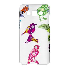 Birds Colorful Floral Funky Samsung Galaxy A5 Hardshell Case
