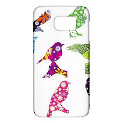 Birds Colorful Floral Funky Samsung Galaxy S6 Hardshell Case