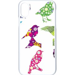 Birds Colorful Floral Funky Apple Iphone X Seamless Case (white)