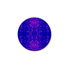 Blue And Pink Pixel Pattern Golf Ball Marker (4 Pack)