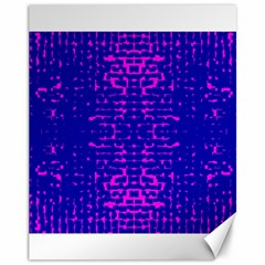 Blue And Pink Pixel Pattern Canvas 11  X 14  by Jojostore