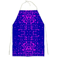 Blue And Pink Pixel Pattern Full Print Aprons by Jojostore