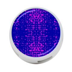 Blue And Pink Pixel Pattern 4 Port Usb Hub (two Sides)