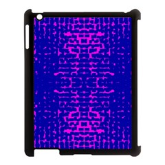 Blue And Pink Pixel Pattern Apple Ipad 3/4 Case (black)