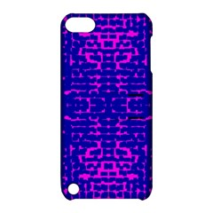 Blue And Pink Pixel Pattern Apple Ipod Touch 5 Hardshell Case With Stand by Jojostore