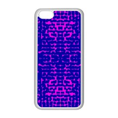 Blue And Pink Pixel Pattern Apple Iphone 5c Seamless Case (white)