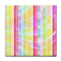 Colorful Abstract Stripes Circles And Waves Wallpaper Background Face Towel