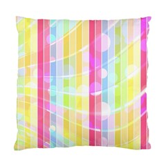 Colorful Abstract Stripes Circles And Waves Wallpaper Background Standard Cushion Case (one Side)