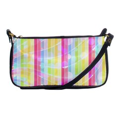 Colorful Abstract Stripes Circles And Waves Wallpaper Background Shoulder Clutch Bag by Jojostore