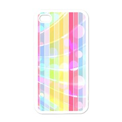 Colorful Abstract Stripes Circles And Waves Wallpaper Background Apple Iphone 4 Case (white) by Jojostore
