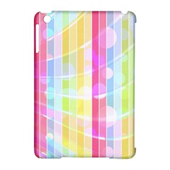 Colorful Abstract Stripes Circles And Waves Wallpaper Background Apple Ipad Mini Hardshell Case (compatible With Smart Cover)