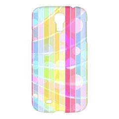 Colorful Abstract Stripes Circles And Waves Wallpaper Background Samsung Galaxy S4 I9500/i9505 Hardshell Case