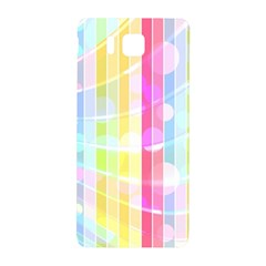 Colorful Abstract Stripes Circles And Waves Wallpaper Background Samsung Galaxy Alpha Hardshell Back Case
