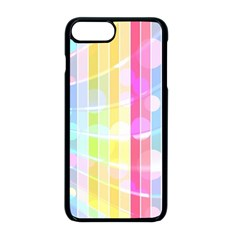 Colorful Abstract Stripes Circles And Waves Wallpaper Background Apple Iphone 8 Plus Seamless Case (black)