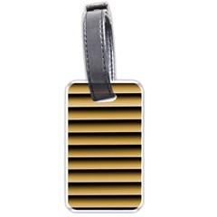 Golden Line Background Luggage Tags (two Sides) by Jojostore