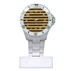 Golden Line Background Plastic Nurses Watch by Jojostore