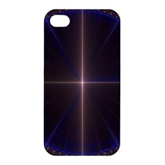 Color Fractal Symmetric Blue Circle Apple Iphone 4/4s Premium Hardshell Case