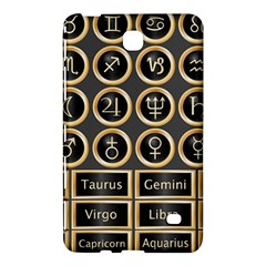 Black And Gold Buttons And Bars Depicting The Signs Of The Astrology Symbols Samsung Galaxy Tab 4 (7 ) Hardshell Case  by Jojostore