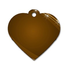 Abstract Background Dog Tag Heart (one Side)