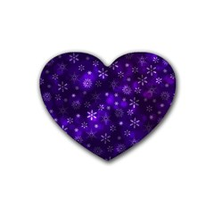 Bokeh Background Texture Stars Rubber Coaster (heart)