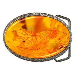 Bright Yellow Autumn Leaves Belt Buckles by Jojostore