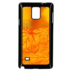 Bright Yellow Autumn Leaves Samsung Galaxy Note 4 Case (black)