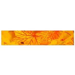 Bright Yellow Autumn Leaves Small Flano Scarf