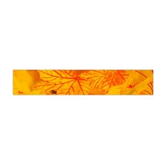 Bright Yellow Autumn Leaves Flano Scarf (mini) by Jojostore