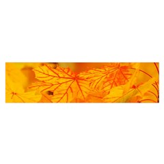 Bright Yellow Autumn Leaves Satin Scarf (oblong)
