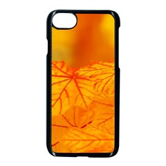 Bright Yellow Autumn Leaves Apple Iphone 8 Seamless Case (black)