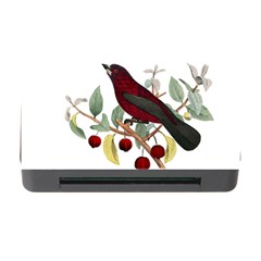 Bird On Branch Illustration Memory Card Reader With Cf