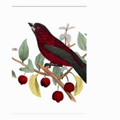 Bird On Branch Illustration Small Garden Flag (two Sides)