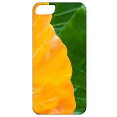 Wet Yellow And Green Leaves Abstract Pattern Apple Iphone 5 Classic Hardshell Case by Jojostore