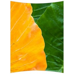 Wet Yellow And Green Leaves Abstract Pattern Back Support Cushion