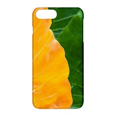Wet Yellow And Green Leaves Abstract Pattern Apple Iphone 8 Plus Hardshell Case by Jojostore