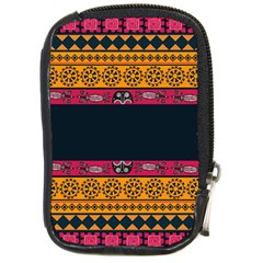Pattern Ornaments Africa Safari Summer Graphic Compact Camera Leather Case