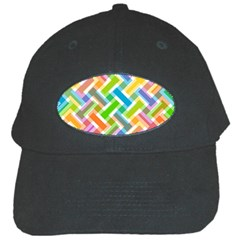 Abstract Pattern Colorful Wallpaper Black Cap