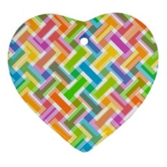 Abstract Pattern Colorful Wallpaper Heart Ornament (two Sides) by Jojostore