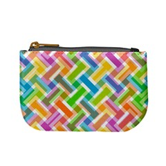 Abstract Pattern Colorful Wallpaper Mini Coin Purse
